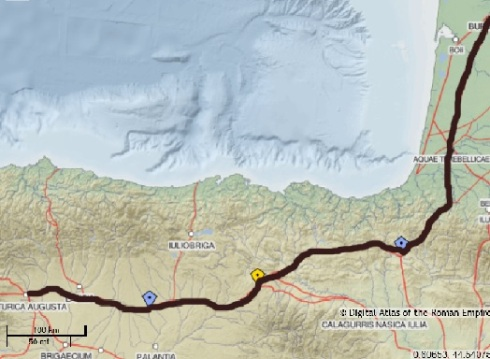 Resultado de imagen de Itinerario Antonino A-34