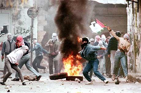 Resultado de imagen de intifada palestina 1987